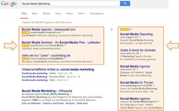 Google-Anzeigen-Beispiel Local Success