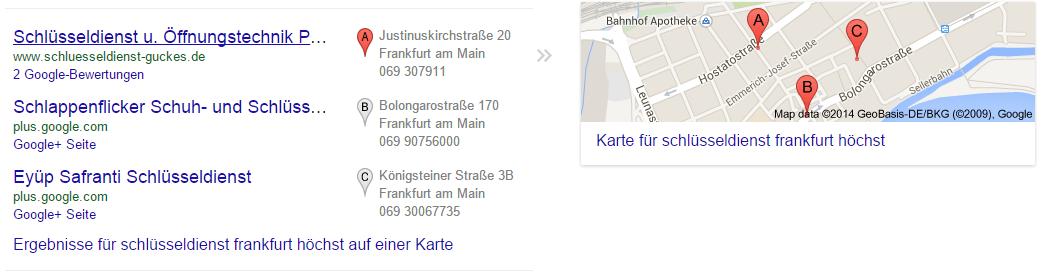 3 Pack Schluesseldienst Frankfurt Hoechst