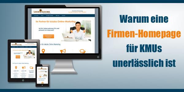 Warum ist eine Firmen Homepage fuer KMUs unerlaesslich