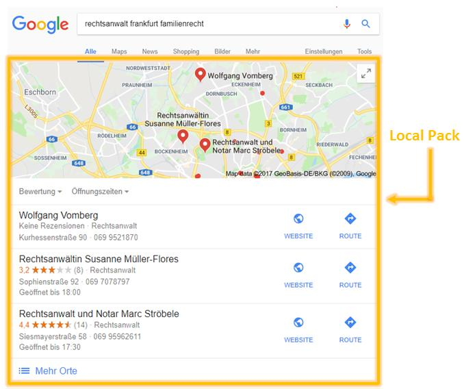 local pack google frankfurt