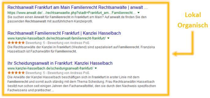 organische ergebnisse google frankfurt